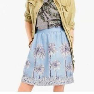 J. Crew Palm Tree Skirt EUC